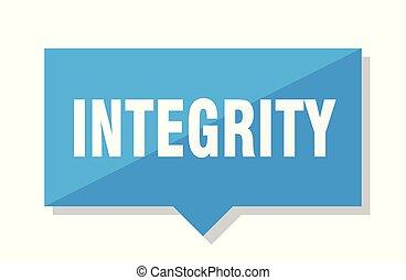 integridade, aprece etiqueta