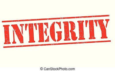 integridade, sinal, ou, selo