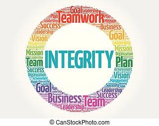 integrità, cerchio, parola, nuvola