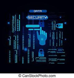 integrità dei dati, icone tecnologia