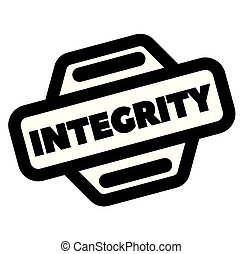integrity black stamp