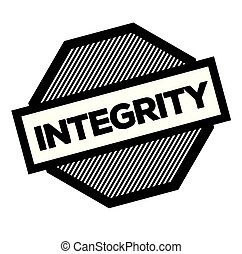 integrity black stamp on white background. Sign, label, sticker