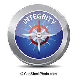integrity compass concept illustration design over white