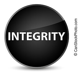 Integrity elegant black round button