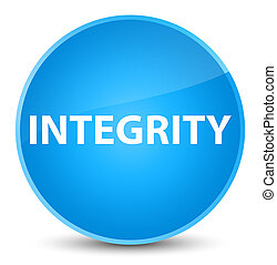 Integrity elegant cyan blue round button