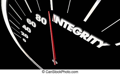 Integrity Good Reputation Speedometer Measure Results 3d Illustration