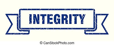 integrity grunge ribbon. integrity sign. integrity banner