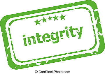 integrity grunge rubber stamp isolated on white background