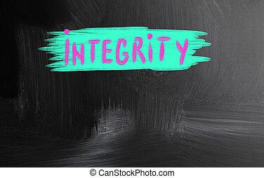 integrity handwritten with chalk on a blackboard