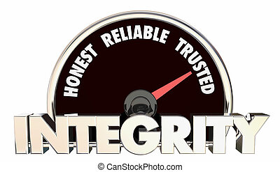 Integrity Honest Reliable Trusted Reputation Speedometer 3d Illustration