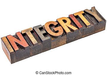 integrity in vintage wood type