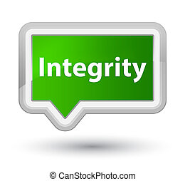 Integrity prime green banner button