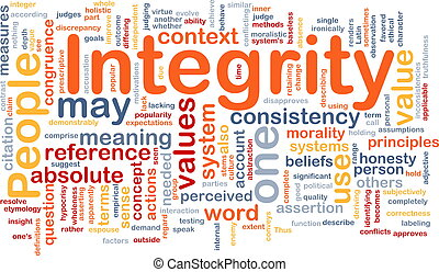 Integrity principles background concept - Background concept...