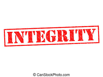 INTEGRITY red Rubber Stamp over a white background.