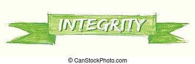 integrity ribbon - integrity hand painted ribbon sign