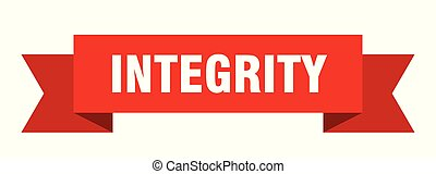 integrity ribbon. integrity isolated sign. integrity banner