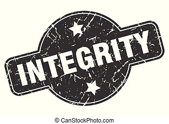integrity round grunge isolated stamp