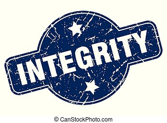 integrity sign - integrity vintage round isolated stamp