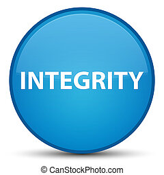 Integrity special cyan blue round button