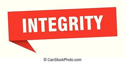 integrity speech bubble. integrity sign. integrity banner