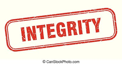 integrity stamp. integrity square grunge sign. integrity