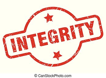 integrity stamp isolated on white