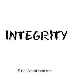 INTEGRITY stamp on white background , typographic design