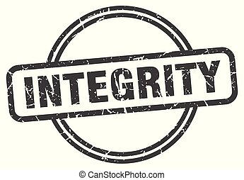 integrity vintage stamp. integrity sign