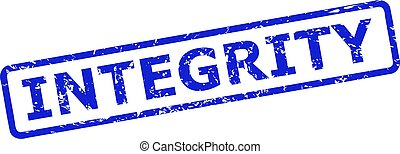 INTEGRITY Watermark with Unclean Surface and Rounded Rect Frame