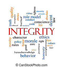 Integrity Word Cloud Concept with great terms such as...