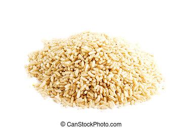inteiro, arroz, grão, instante