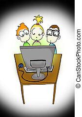 intekids, e, computador