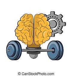 inteligência, criatividade, desenhos animados, cérebro humano