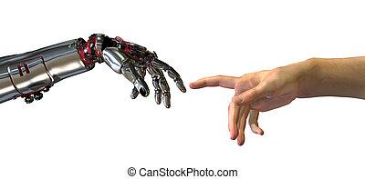 inteligência, nascimento, artificial