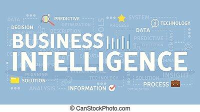 inteligence, concept., povolání