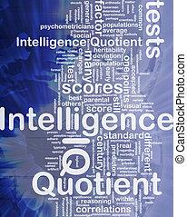 inteligencia, concepto, plano de fondo, quotient