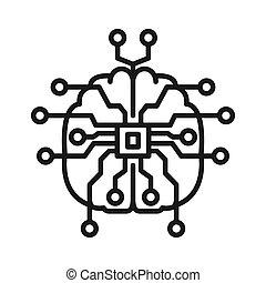 inteligencia, diseño, ilustración, artifical
