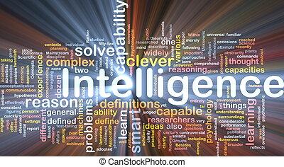 inteligencia, encendido, concepto, plano de fondo