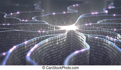 inteligencia, red, artificial, neural