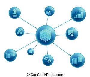 inteligencia, resumen, elementos, empresa / negocio,...
