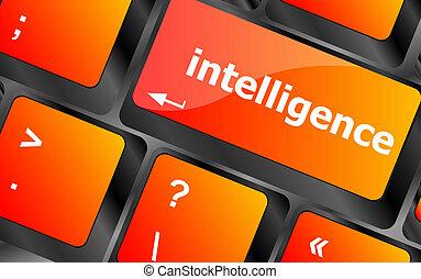 inteligencja, -, do góry, klawiatura, konceptualny,...