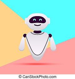 inteligencja, pogawędka, bot, różowy, pastelowe tło, ...