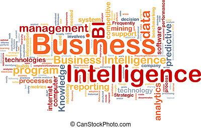 inteligencja, pojęcie, handlowy, tło