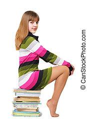 inteligente, menina adolescente
