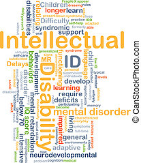 Intellectual disability ID background concept - Background...