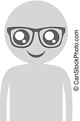 intellectual face - Creative design of intellectual face