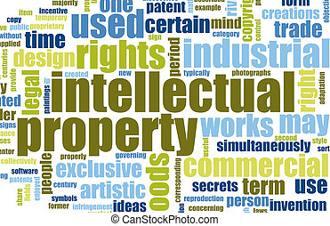 Intellectual Property Concept Word Cloud as Art