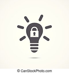 Intellectual property icon on white background