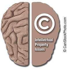 Intellectual Property IP asset copyright - Human brain...