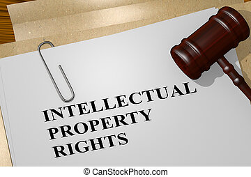 INTELLECTUAL PROPERTY RIGHTS concept